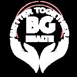 Bg health white logo